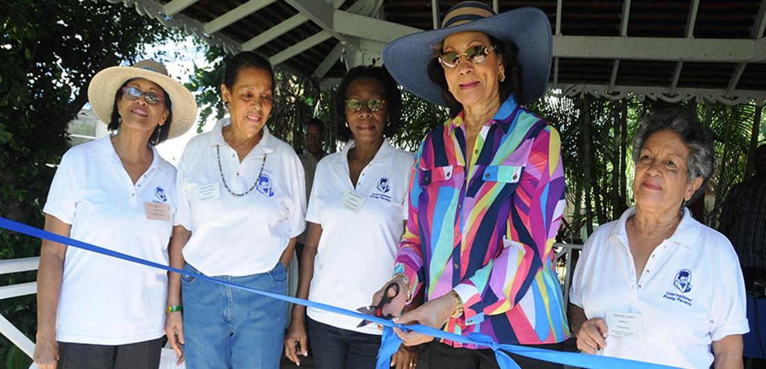 Marigold Harding opening the Annual Bazaar 2014